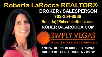 Roberta LaRocca REALTOR Las Vegas Broker Salesperson